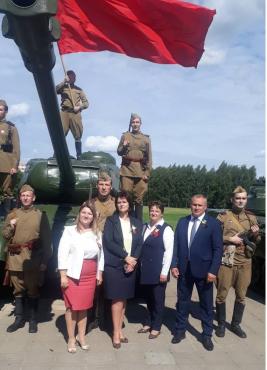 Торжественное мероприятие, посвящённое 79-й годовщине обороны Могилева, на мемориальном комплексе «Буйничское поле»